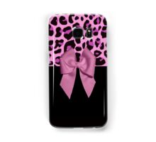 Pink Leopard Print and Bow Samsung Galaxy Case/Skin