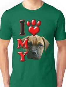 I Love My Bull Mastiff Unisex T-Shirt