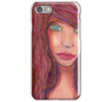Oil Pastel Girl Portrait iPhone Case/Skin