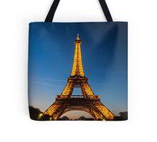 Eiffel Tower and sunset Tote Bag
