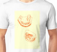 Teeth mold print (colored) Unisex T-Shirt