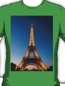 Eiffel Tower and sunset T-Shirt