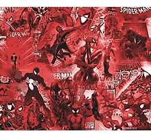 Spider Comic MashUp Photographic Print