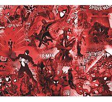 Spider Comic MashUp Photographic Print