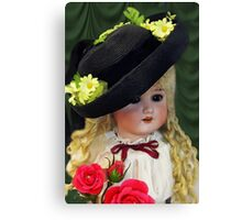BRINGING U ROSES DOLL / PICTURE/CARD Canvas Print
