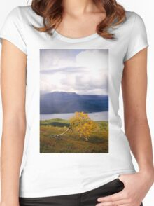 autumn rainbow Women's Fitted Scoop T-Shirt