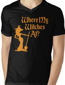 Where My Witches At? Mens V-Neck T-Shirt