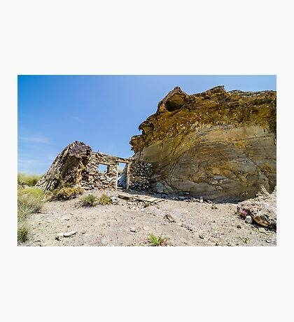 Abandoned movie location in the Tabernas desert. Photographic Print