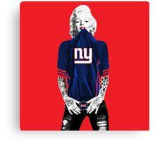 Marilyn Monroe For NY Giants Canvas Print