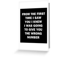 Wrong Number Greeting Card