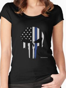 Police Punisher Women's Fitted Scoop T-Shirt