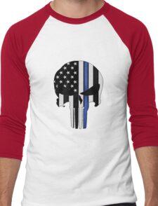 Police Punisher Men's Baseball ¾ T-Shirt