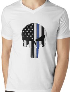 Police Punisher Mens V-Neck T-Shirt