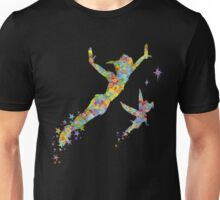 Peter Pan and Tinker Bell Watercolor Unisex T-Shirt