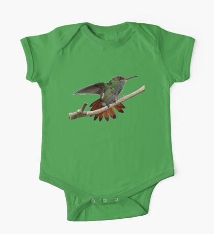 Rufous-tailed Hummingbird prints/apparel/home decor. One Piece - Short Sleeve