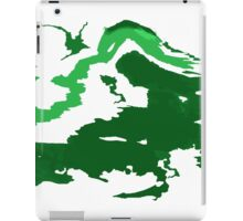 Abstract Green iPad Case/Skin
