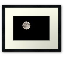 The Moon On Black Night Sky Framed Print