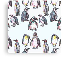 Penguin Party Canvas Print