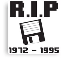 R.I.P. Floppy Disk Canvas Print
