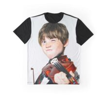 Freckled red-hair boy playing violin Graphic T-Shirt