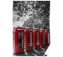 telephone booths, london #1212 Poster