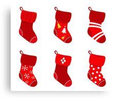 Cute Christmas Socks set Canvas Print