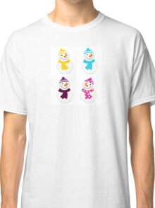 Vector cute snowman collection : just one original illustration Classic T-Shirt