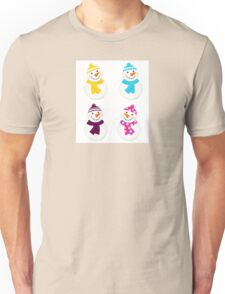 Vector cute snowman collection : just one original illustration Unisex T-Shirt