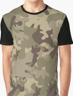 Military Camouflage Graphic T-Shirt