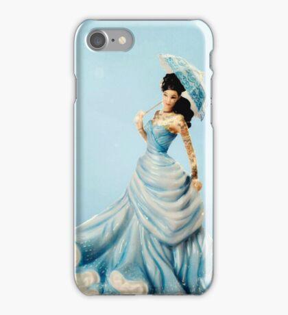 Tattoo Doll - Porcelain in Blue iPhone Case/Skin