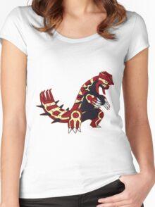 Pokemon - Primal Groudon Women's Fitted Scoop T-Shirt