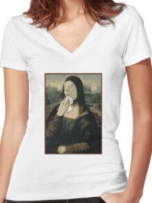 Mona Sneeza  Women's Fitted V-Neck T-Shirt