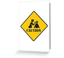 caution zombies sign Greeting Card