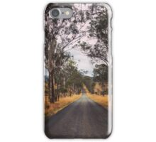 A tree lined rural road iPhone Case/Skin