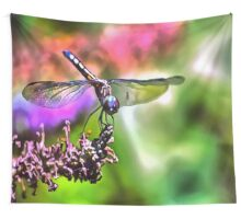 Dragonfly In Green and Blue Wall Tapestry