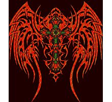 TRIBAL WING CROSS RED Photographic Print