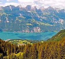 Wallensee Panorama by mamba