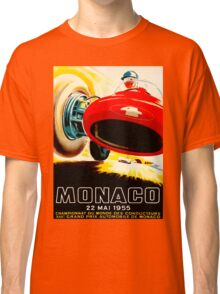 MONACO GRAND PRIX; Vintage Auto Racing Print Classic T-Shirt