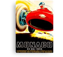 MONACO GRAND PRIX; Vintage Auto Racing Print Canvas Print