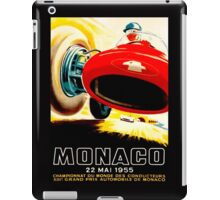 MONACO GRAND PRIX; Vintage Auto Racing Print iPad Case/Skin