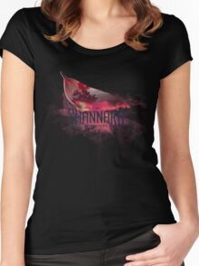 The Shannara Chronicles burnt leaf Women's Fitted Scoop T-Shirt