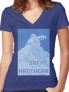 Ski Hrothgar Women's Fitted V-Neck T-Shirt