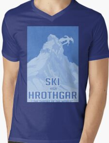 Ski Hrothgar Mens V-Neck T-Shirt