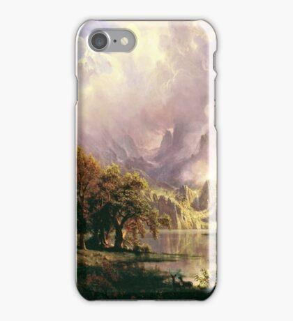 Albert Bierstadt - Rocky Mountain Landscape iPhone Case/Skin