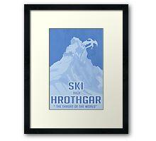 Ski Hrothgar Framed Print