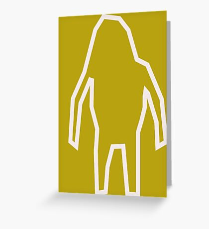 Abstract Bigfoot Greeting Card