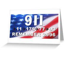 9-11 Numbers Greeting Card