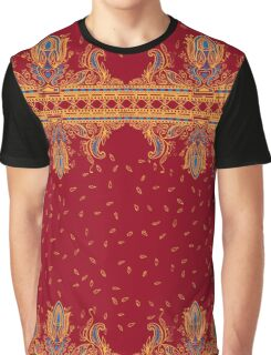 Beautiful ornate border paisley traditional style. Seamless eastern chic tradition   design Graphic T-Shirt