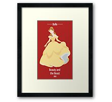 Belle Illustration Framed Print