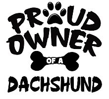 Proud Owner Of A Dachshund Photographic Print